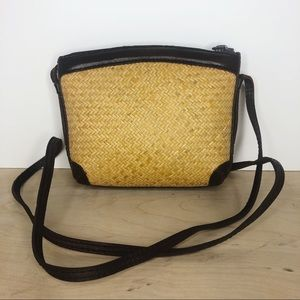 Vintage Rattan Woven Elliot Lucca Purse Indonesian